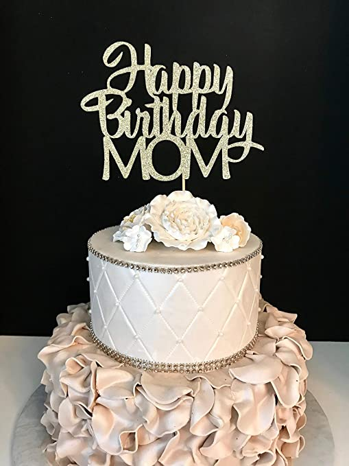 Birthday Cake For Mom.Funlaugh Happy Birthday Mom Gold Glitter Personalized Custom