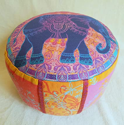 Meditationskissen Yogakissen mit abnehmbarem Bassetti Bezug Tantra Meditation Lotos Mandala Yoga