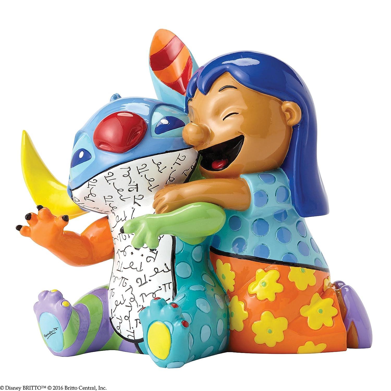 Enesco Disney By Romero Britto Lilo e Stitch, Ceramica,, 10x12x13 cm 4055232