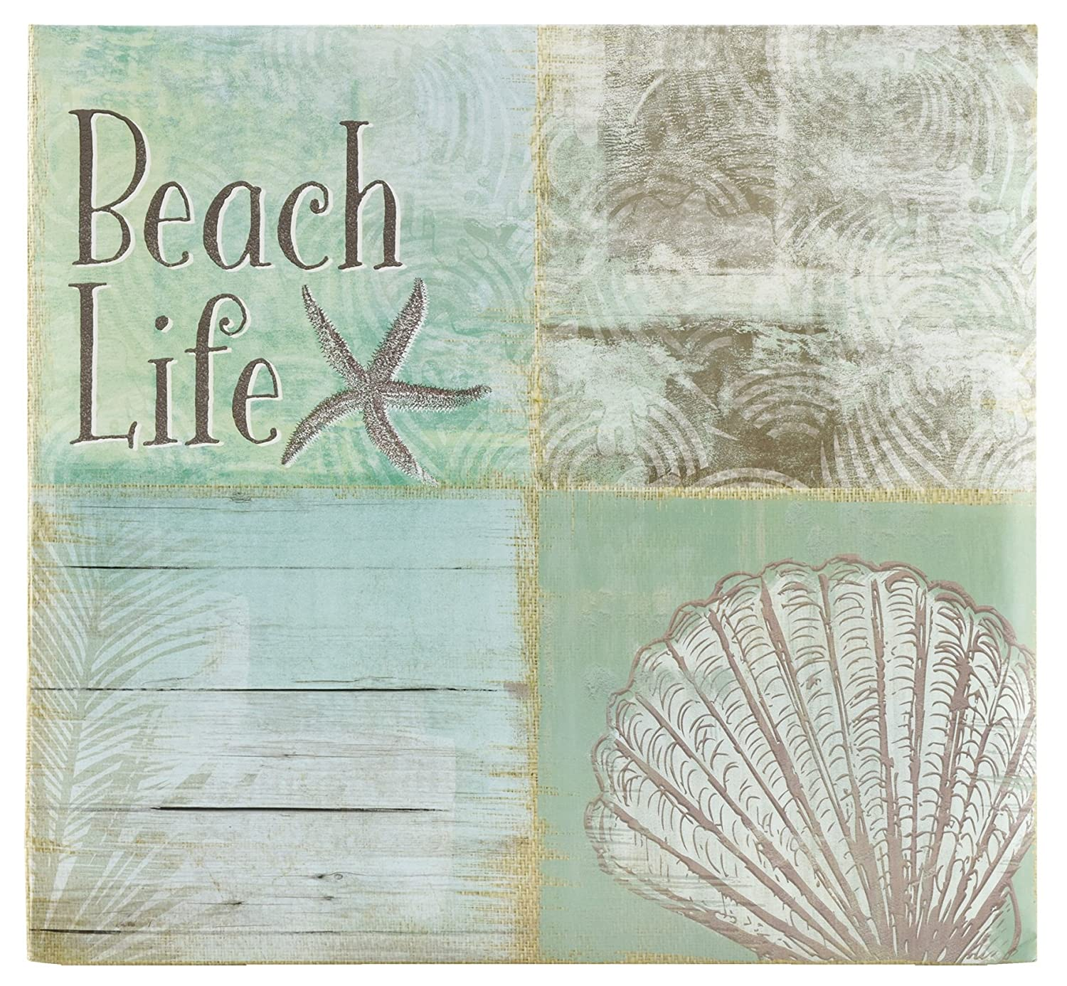 MCS MBI 13.5x12.5 Inch Beach Life Theme Scrapbook Album with 12x12 Inch Pages (860121) MCS Industries