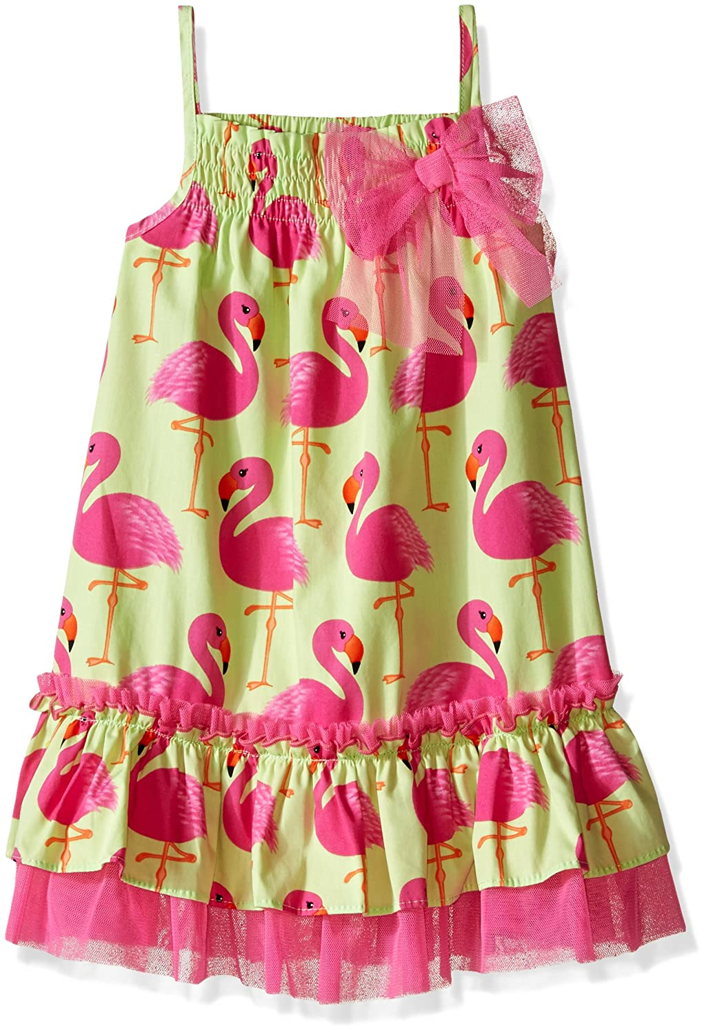 621884279 Amazon.com: Bonnie Jean Girls' Flamingo Printed Cotton Trapeze Dress:  Clothing