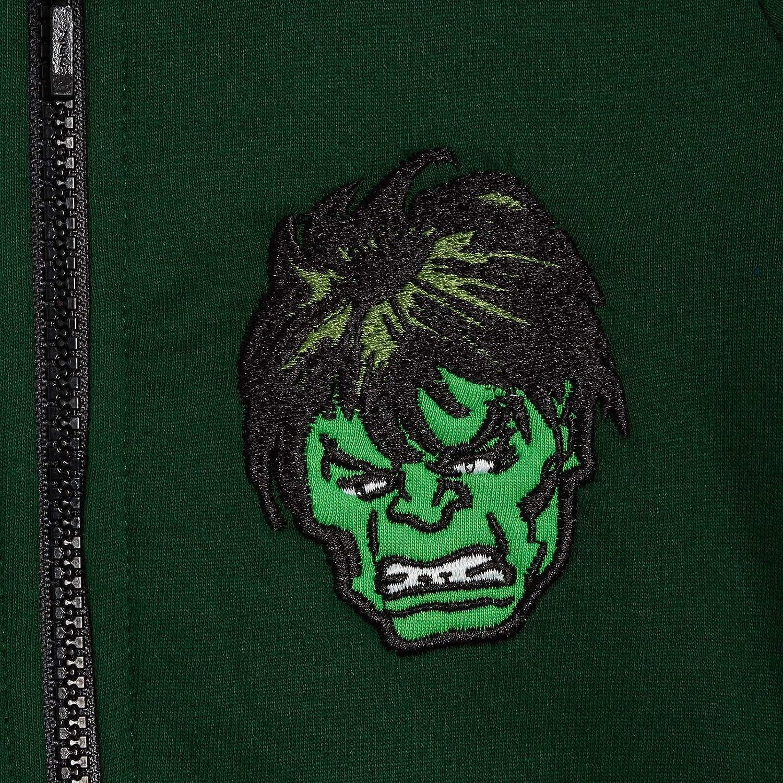 Motivo: Avengers Marvel The Incredible Hulk per Bambini Giacca con Cappuccio e Cerniera
