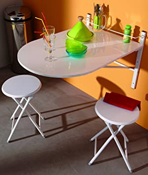 Amazon Table De Cuisine.Albatros Kitchen Table Folding Wall Table Sinai Amazon Co