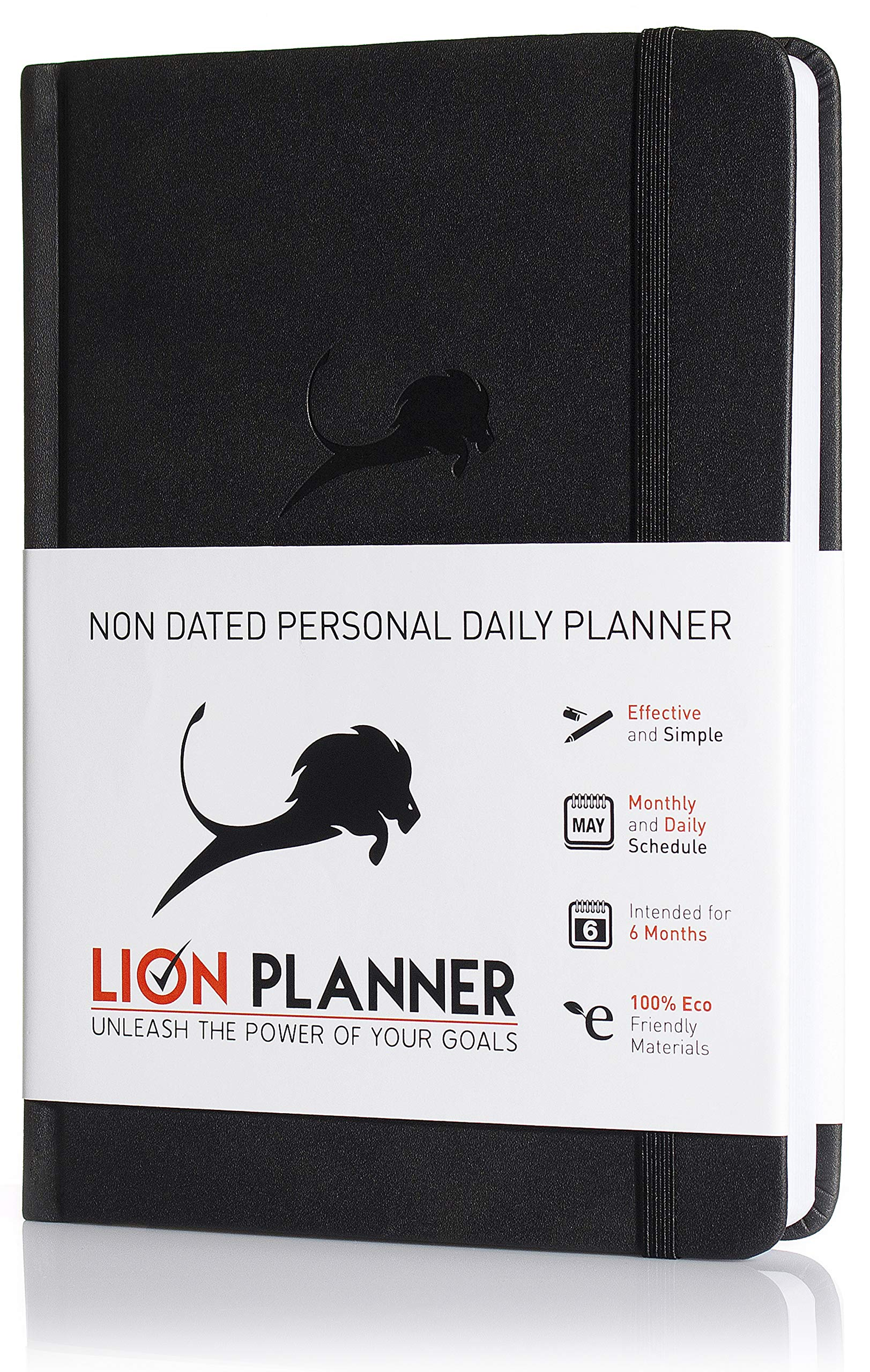 Best Daily Planner for Productivity & Time Management - Monthly Calendar, Weekly and Daily to DO List - 24 Hour Schedule & Appointment Journal - 6 Months - Undated - Hardcover - 12 Months Guarantee