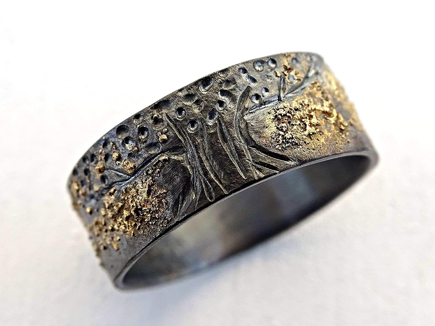 It is just a photo of Amazon.com: unique viking ring, celtic wedding band, tree of life