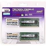 CFD販売 ノートPC用メモリ PCL-12800(DDR3L-1600) 4GB×2枚 1.35V対応 SO-DIMM (無期限保証)(Panram) W3N1600PS-L4G