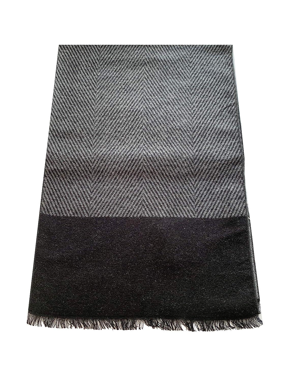 100/% seta di ottima qualit/à, PB Pietro Baldini Elegante sciarpa invernale nero doubleface