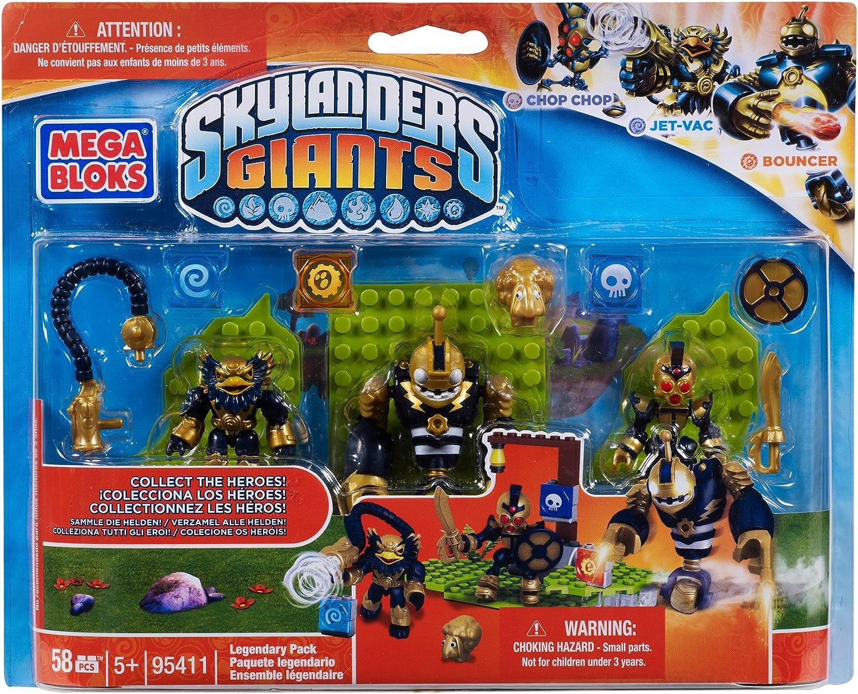 Skylanders Giants Mega Bloks Set #95411 Legendary Pack [Chop Chop, Jet-Vac & Bouncer]: Amazon.es: Juguetes y juegos