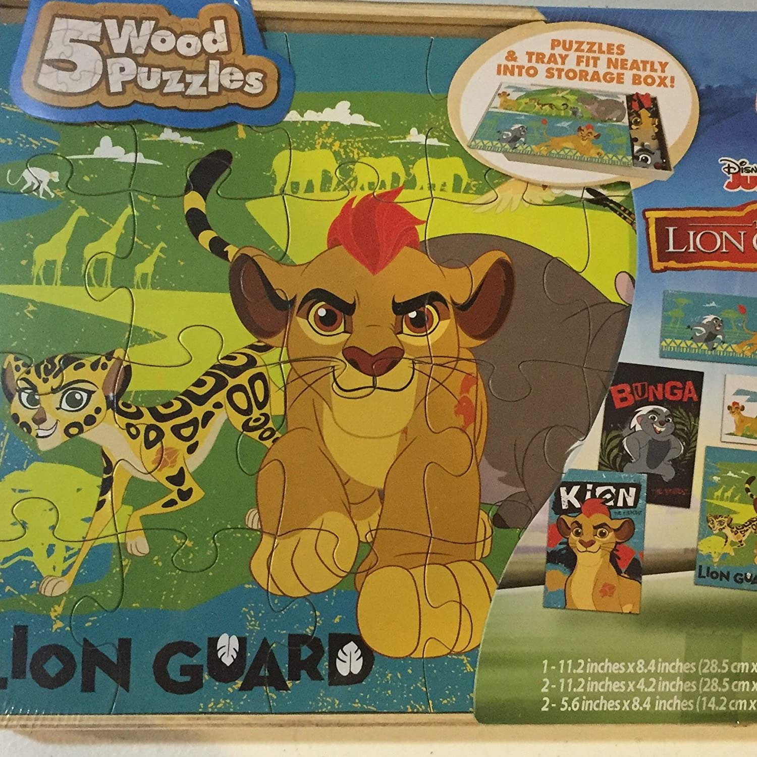 Amazon Disney Junior The Lion Guard 5 Wood Puzzles Toys Games