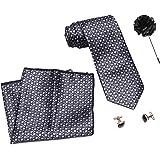 COCO CHANEL Unisex Silk Stain Resistance Necktie (Black, Free Size)