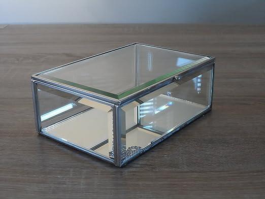 Espejo caja con forma de cristal joyas/caja de almacenaje, vidrio ...