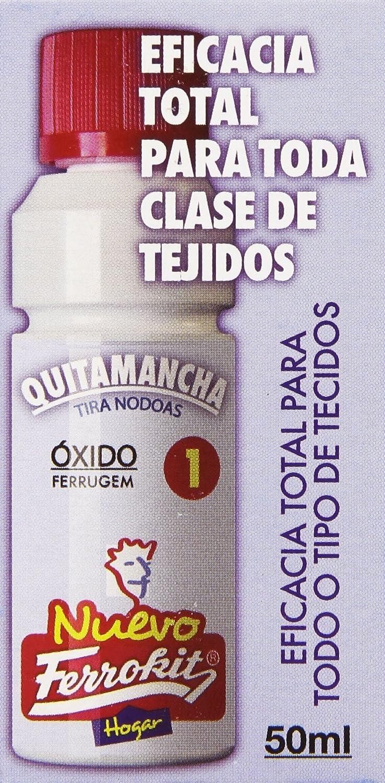 Ferrokit - Quitamanchas Óxido - Eficacia para toda clase de tejidos - 50 ml: Amazon.es: Alimentación y bebidas