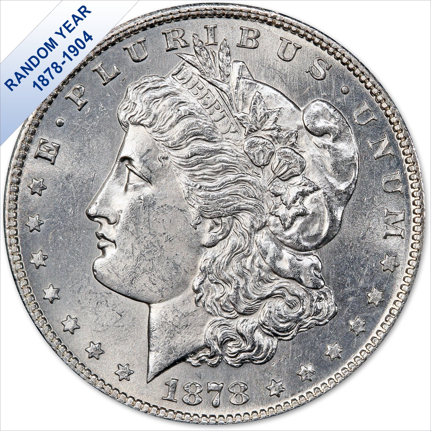 (1878-1904) Morgan Silver Dollar (Bu) $1 Brilliant Uncirculated