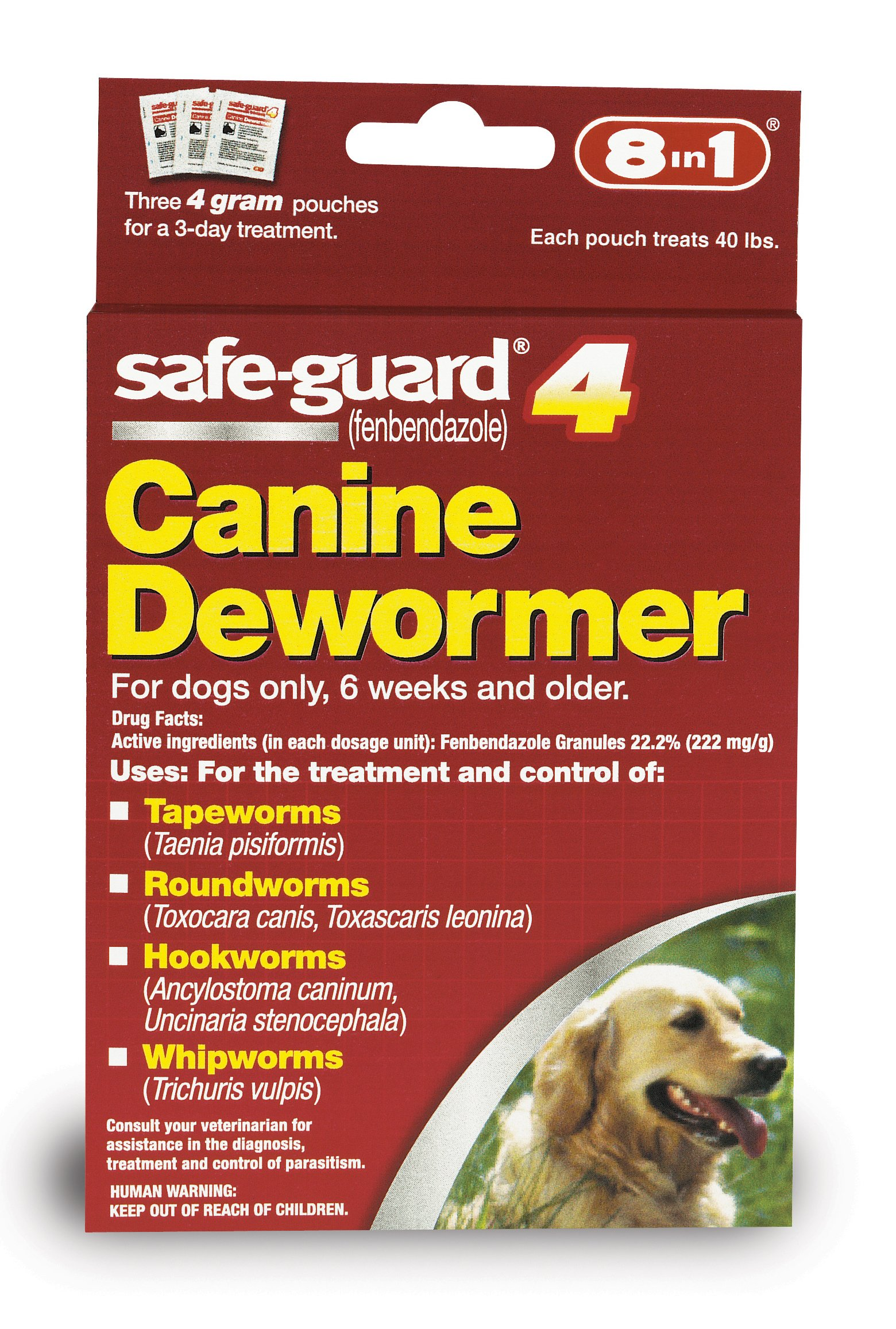 8in1 Safe Guard Canine Dewormer Large