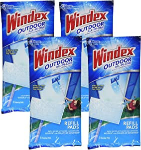 Windex All-In-One Window Cleaner Pads Refill - 2 ct - 4 pk