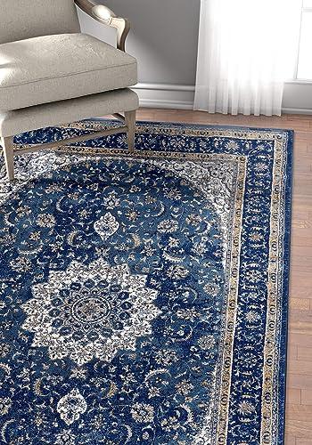 Well Woven Luxbury Mahal Traditional Vintage Medallion Oriental Blue Area Rug 3 11 x 5 3