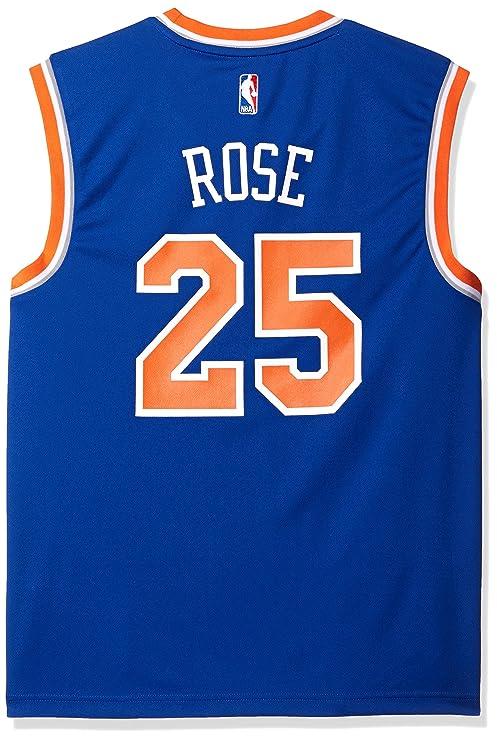 e297aa167 NBA Men s New York Knicks Derrick Rose Replica Player Stretch Jersey ...