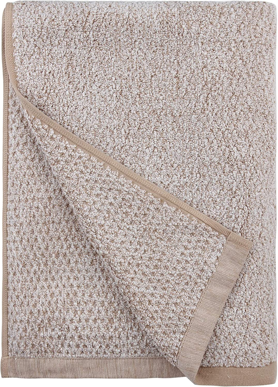 Brown 35 x 66 Everplush Diamond Jacquard Bath Sheet