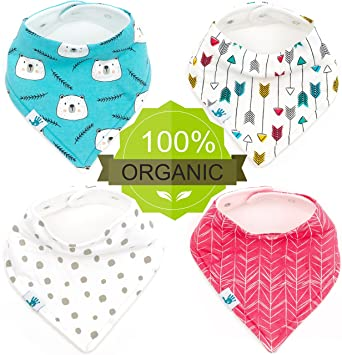 87915efe0e16 Bandana Baby Bibs - Best for Teething and Drooling - Organic Cotton ...