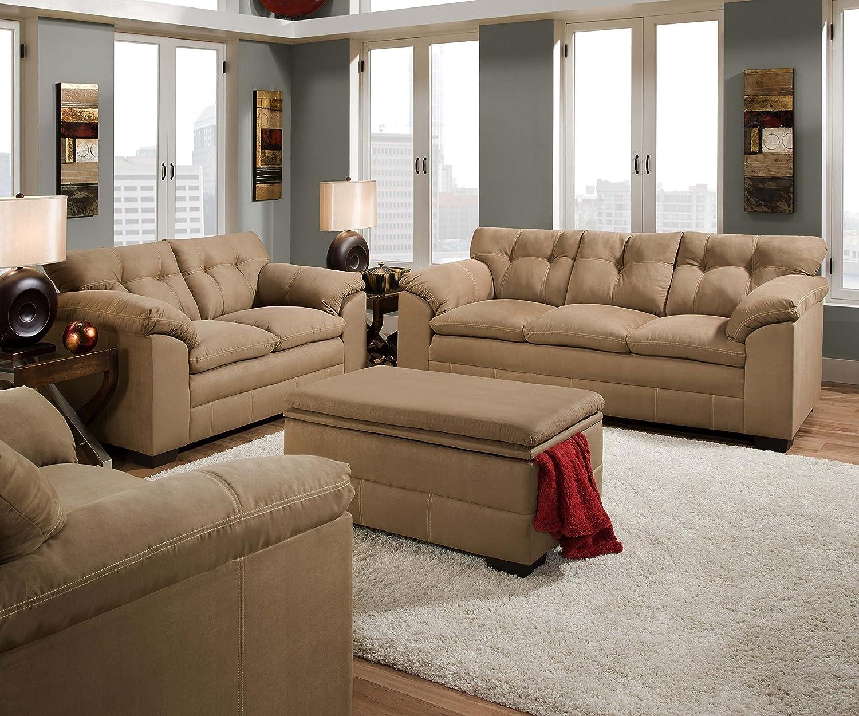 Amazon Simmons Upholstery 6765 03 Velocity Latte Sofa