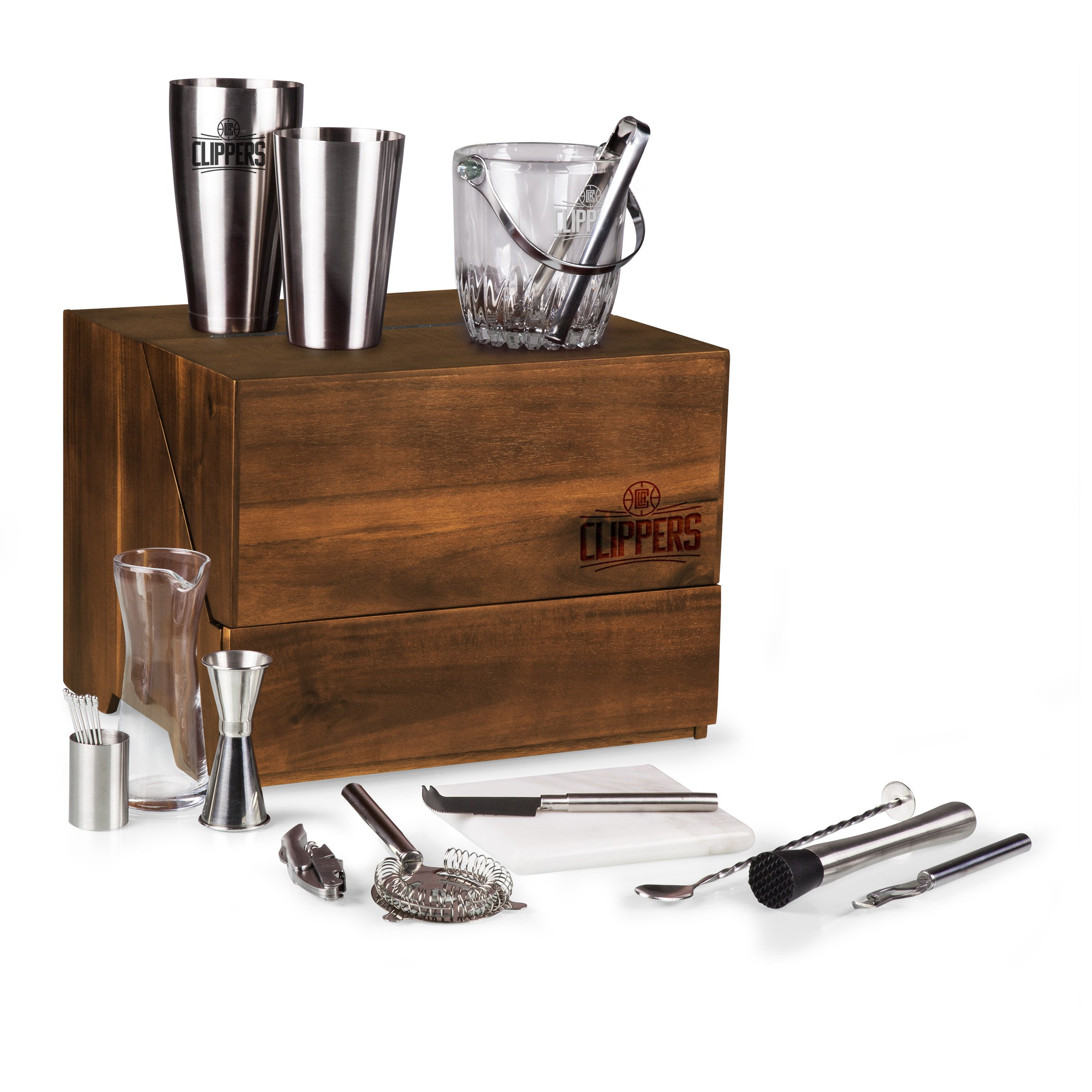 NBA Los Angeles Clippers Madison 19-Piece Tabletop Bar Set