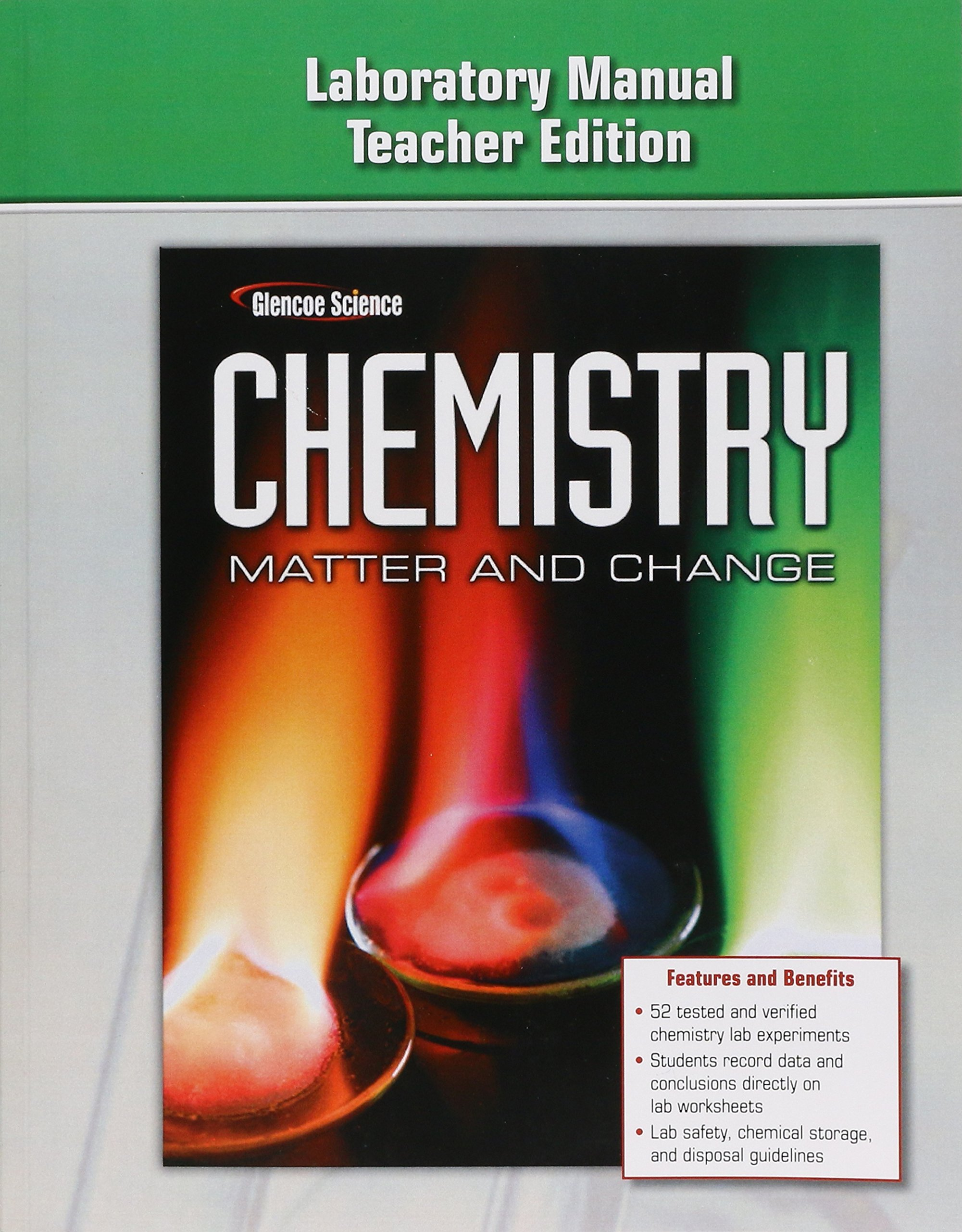 Chemistry: Matter & Change-Laboratory Manual Teacher's Edition: Glencoe  McGraw-Hill: 9780078787485: Amazon.com: Books