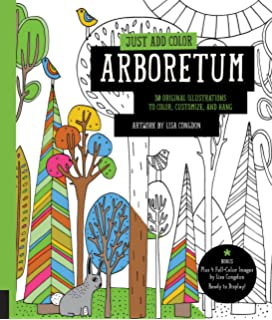Just Add Color Arboretum 30 Original Illustrations To Customize And Hang