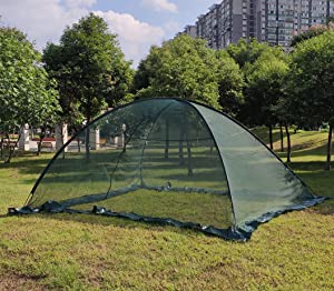 OUTOUR Garden Pond Cover Pool Cover Protector with Netting Tent Dome Netting 13x17 Feet, 3/8 Inch Mesh -Protection from Debris and Pests