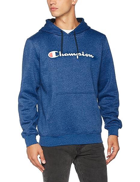 Hooded Sweatshirt-Institutionals, Sudadera con Capucha para Hombre, Azul (Zbvu), X-Large Champion