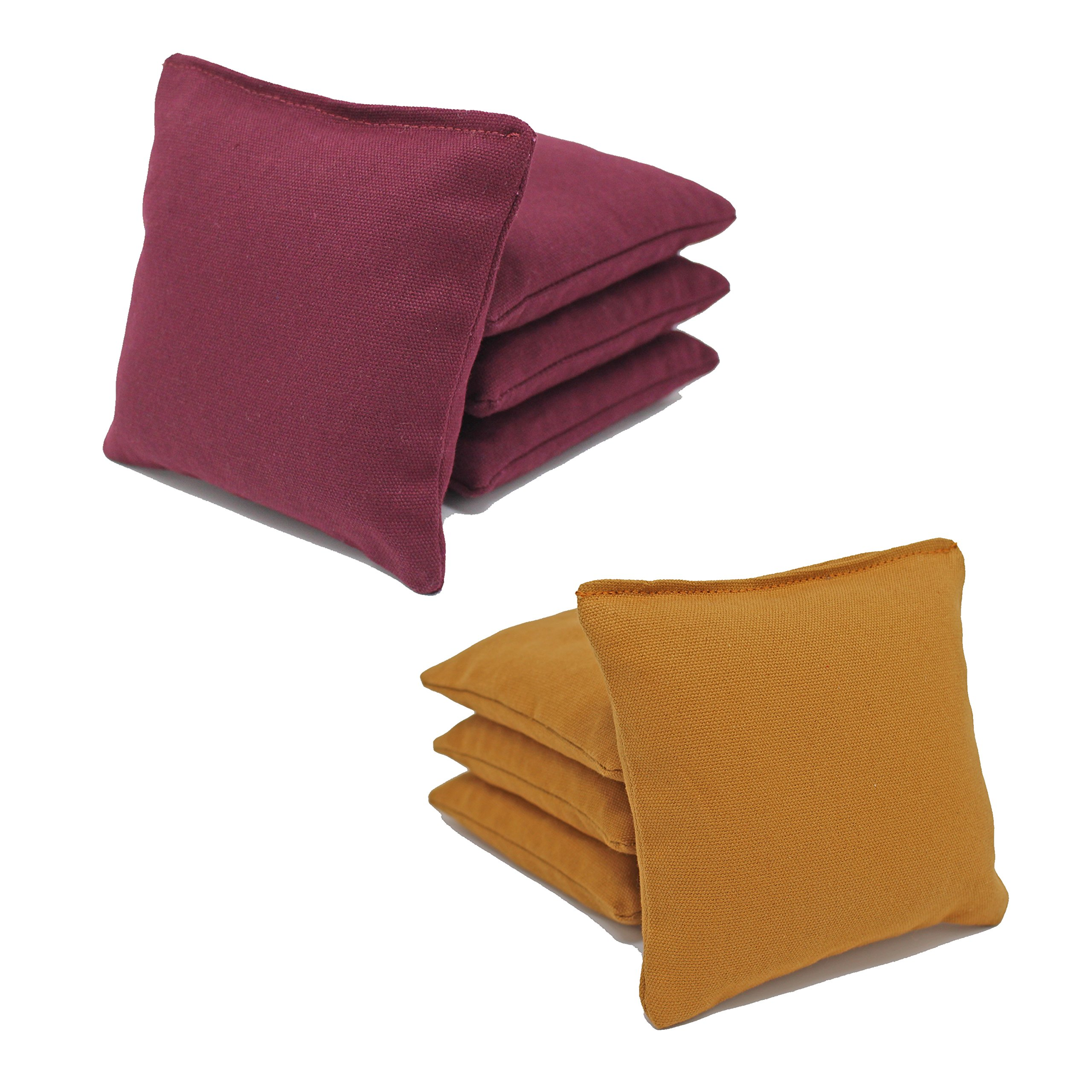 Free Donkey Sports ACA Regulation Cornhole Bags (Set of 8) (Burgundy and Gold) 25+ Colors to Choose from.