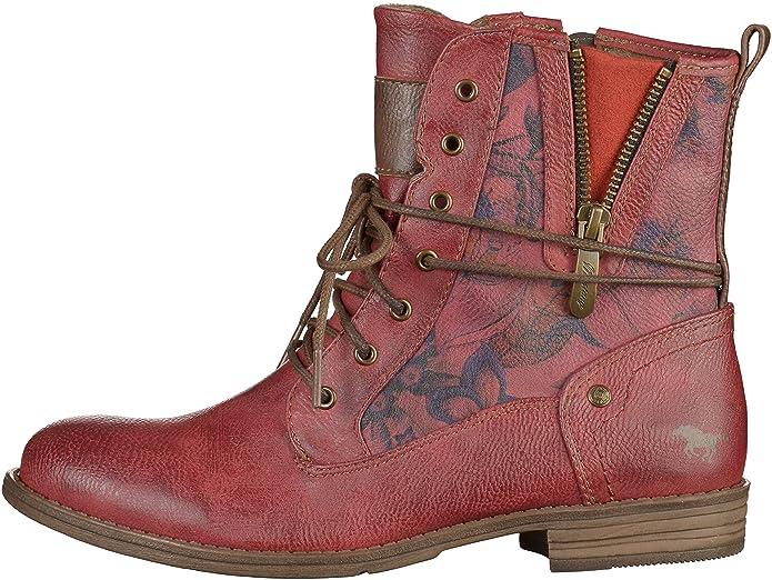 Mustang 1157 535 Stiefelette Damen Stiefelette 535 Rot, EU 44  Amazon   Schuhe 849e40