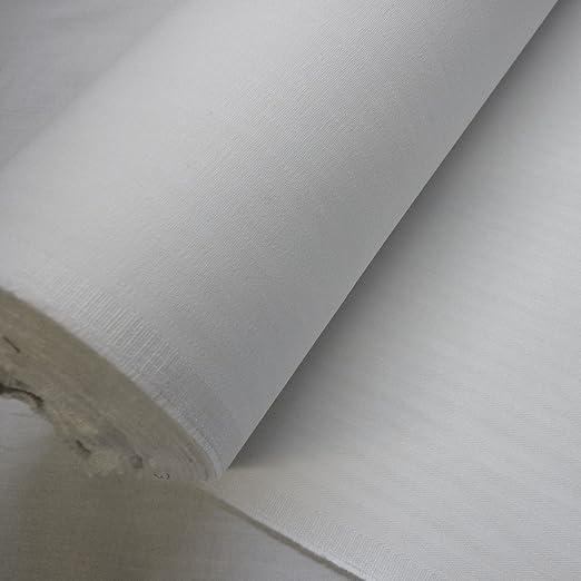 Espiga blanca de algodón tela (por metro) embrioscopia: Amazon.es ...