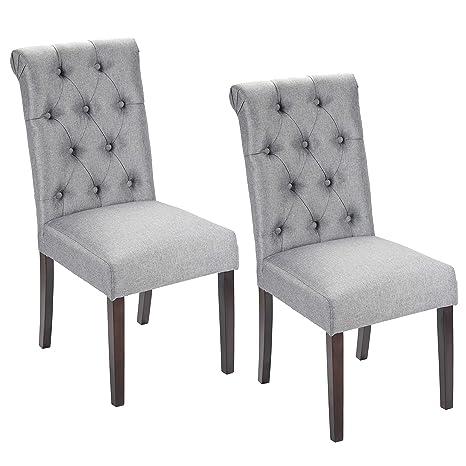 Amazon.com: Porthos - Juego de 2 sillas de comedor, acento o ...