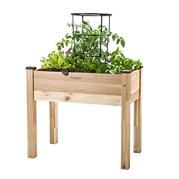 Amazoncom CedarCraft Elevated Garden Planter 18 X 34 X 30