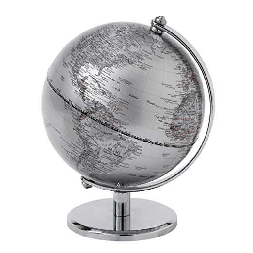24 opinioni per Globe Collection Mappamondo, Silver, 13 cm