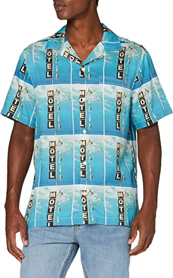 Wrangler SS Allover Shirt Camisa Casual para Hombre: Amazon.es: Ropa y accesorios