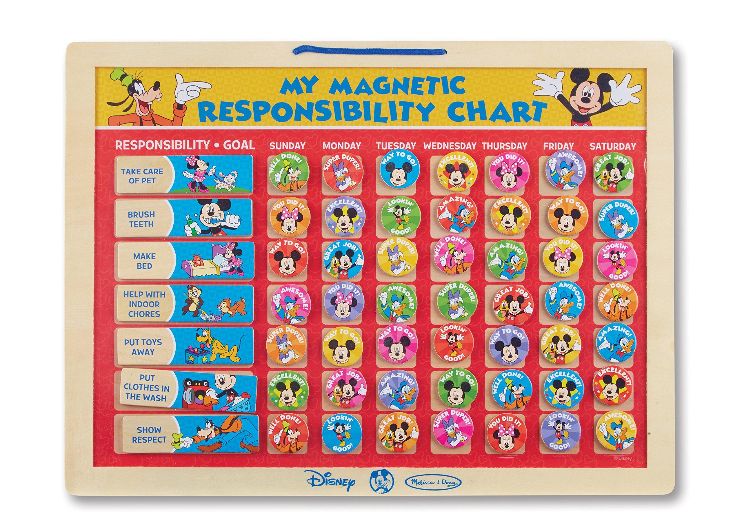 Melissa & Doug Disney Mickey Mouse My Magnetic Responsibility Chart