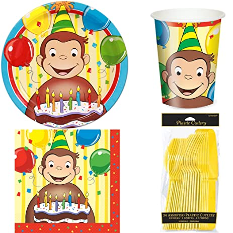 Curious George Party Set for 8 Guests  sc 1 st  Amazon.com & Amazon.com: Curious George Party Set for 8 Guests: Toys \u0026 Games