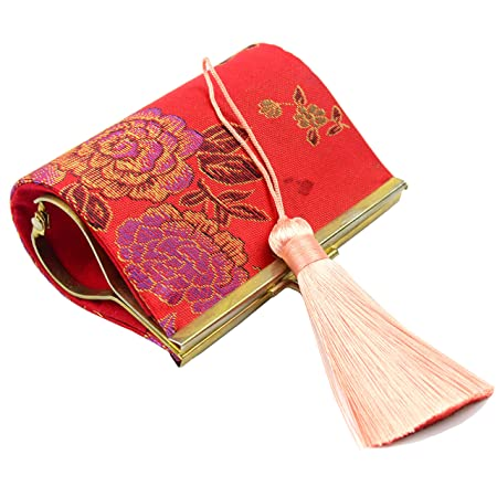 gioielli decorazione 10pcs Rosso Scuro Nappe abbellimenti cucito