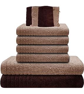 Fesselnd Gallant 10 Tlg Handtücher Set Braun Beige 4 Handtücher 50x100 Cm 2  Duschtücher Badetücher 70x140 Cm