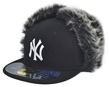 916007177d8 New Era New York Yankees MLB Knock Cold Dog Ear 59Fifty Cap Black Size 7 5
