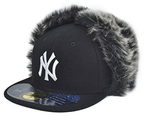 0f3904dfcef9c7 New Era New York Yankees MLB Knock Cold Dog Ear 59Fifty Cap Black Size 7 5