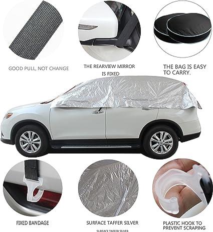 Universal Windshield Half Car Auto Cover Sun Rain Snow Dust UV Protection