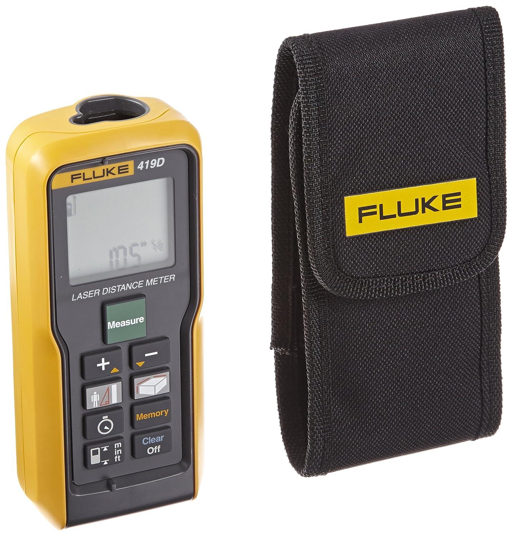 Fluke 419D Medidor láser de distancias 80 m Gris, Amarillo - Telémetro (Medidor láser de distancias, 80 m, pies, m, 1 mm, 6 mm, 6 cm)