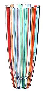 ZECCHIN Venezia Vaso Oval Vase de Cristal Peintes à la Main Couleurs Tradition Venise