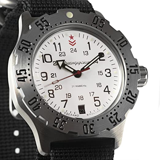 Vostok ruso mecánico K-35 # 350752 KOMANDIRSKIE reloj de pulsera, automático 2416b: Amazon.es: Relojes