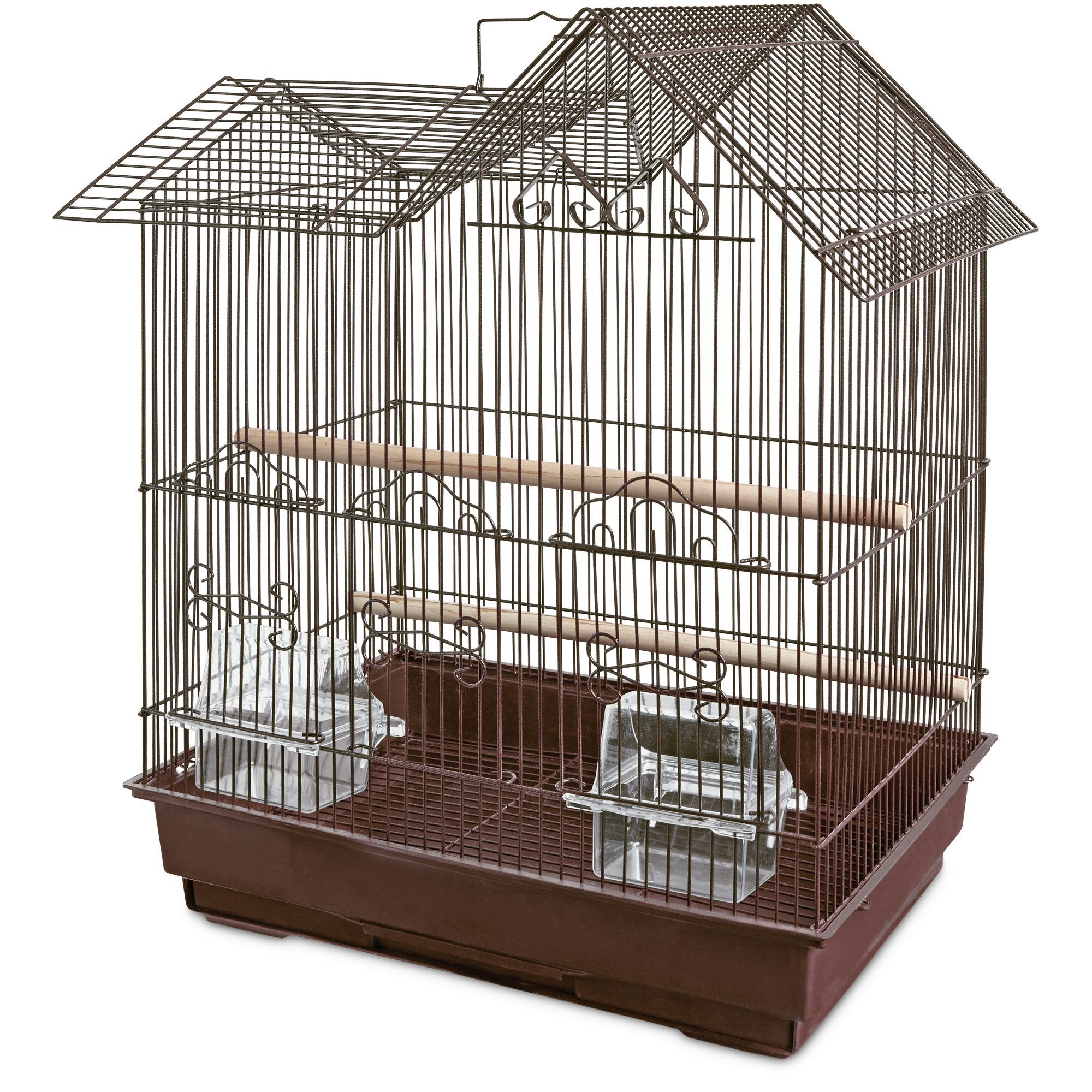 You & Me Parakeet Ranch House Cage, Brown, 16.5 in by You&Me
