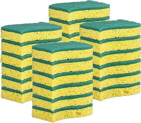 Elite Selection S-Shape Scrub Sponges Pink 24 Pc Non-Scratch Kitchen Sponges