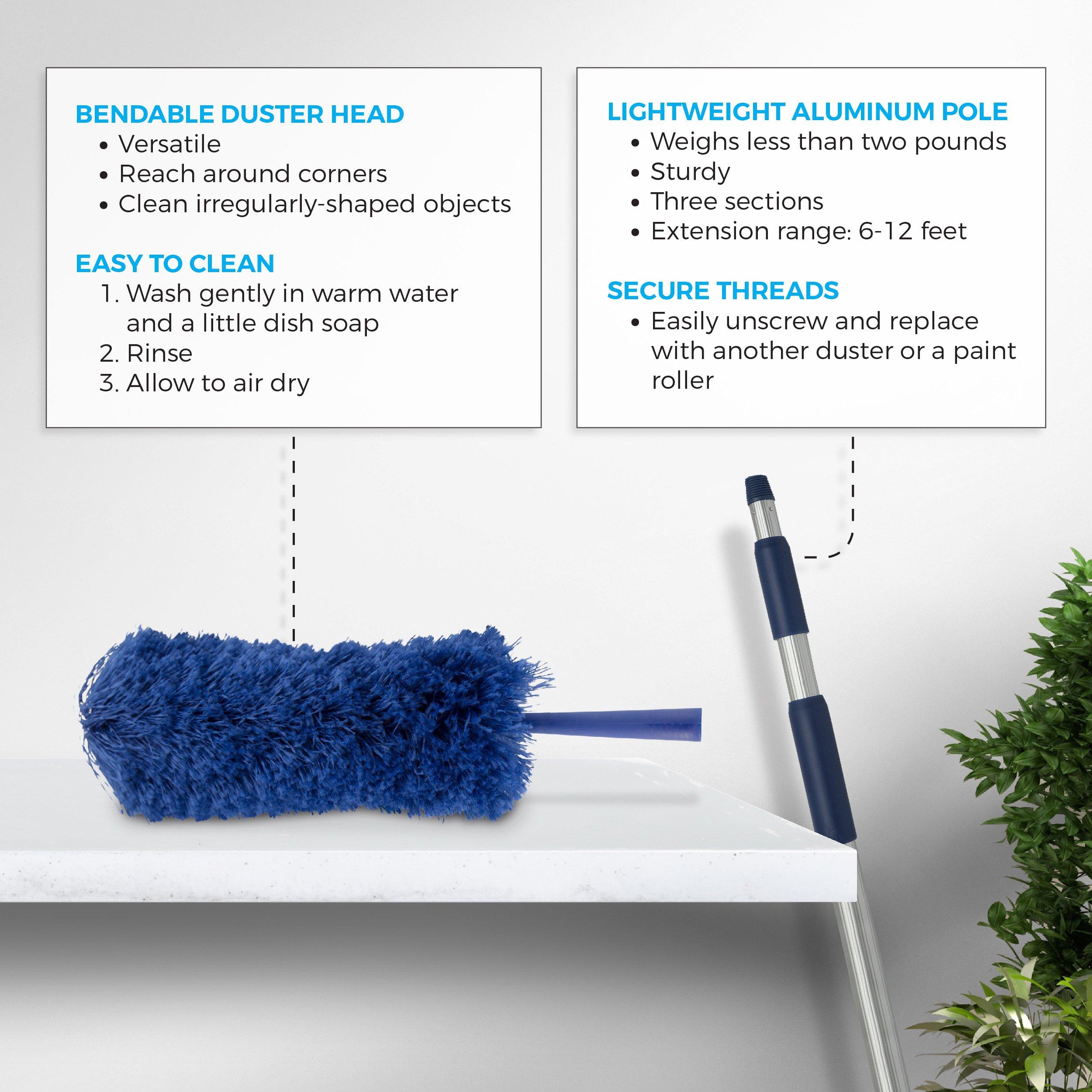 Extendable Microfiber Duster Extension Rod   Ceiling Fan Duster 20 ...