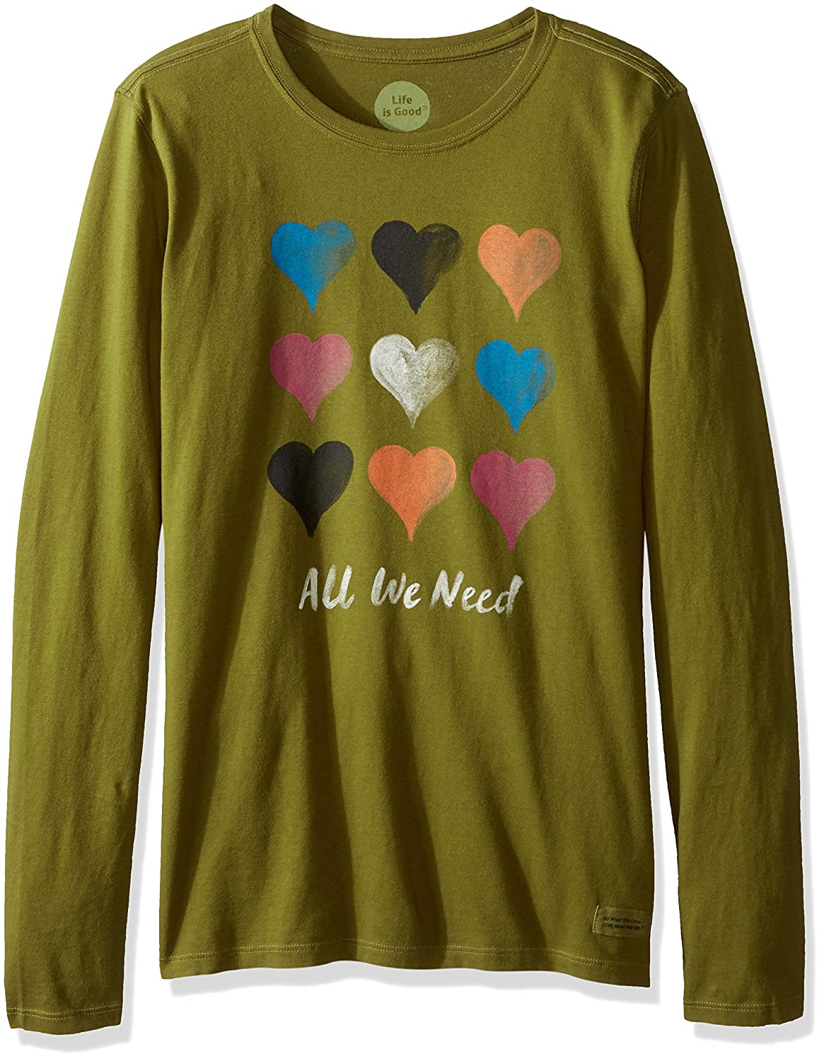 Life is good Crusher longsleeve All We Need Multi T-Shirt, Woodland Green
